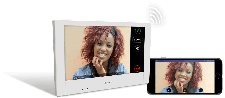 "Nexa IP deurvideo kit met 7"" touchscreen WiFi monitor met"